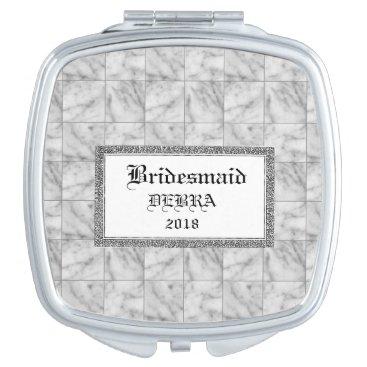 Marble-Tiles-Favors-Monogram-Template-Celebration Compact Mirror