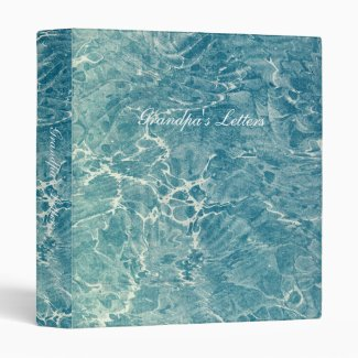 Marbled Blue 3 Ring Binders