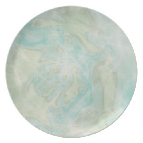 Marbled Teal Sparkle Plates