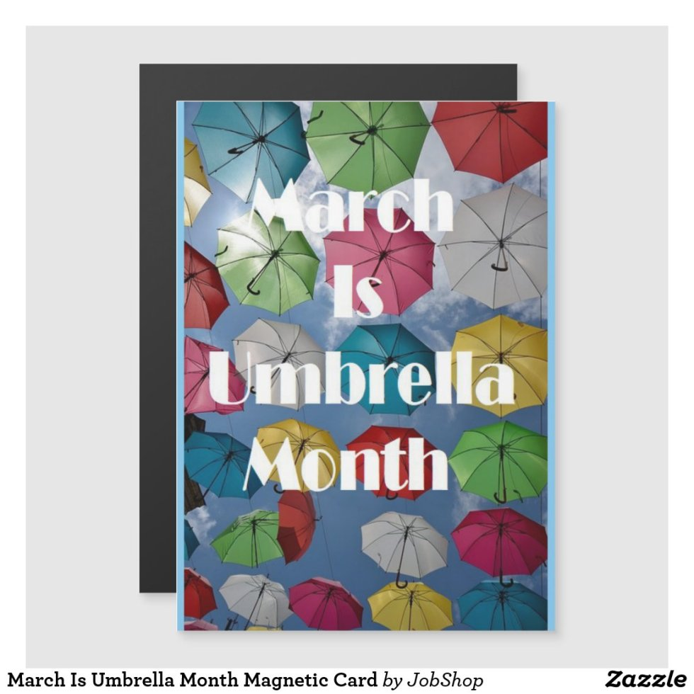 March Is Umbrella Month Magnetic Card
