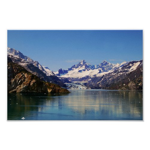 Margerie Glacier Panorama, Alaska Poster
