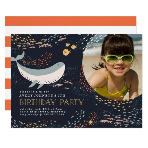 Marine Life Birthday Invitation