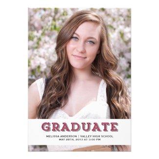 Maroon Graduate Senior Portrait Invites