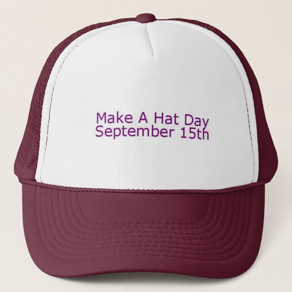 Maroon & White Make A Hat Day Hat