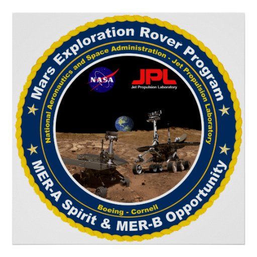 Mars Exploration Rover Mission Logo Poster Zazzle