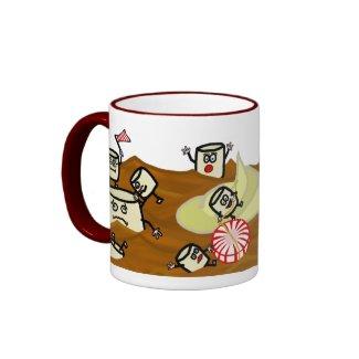 Funny Marshmallows in Hot Cocoa Mug