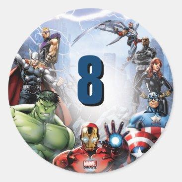 Marvel | Avengers - Birthday Classic Round Sticker