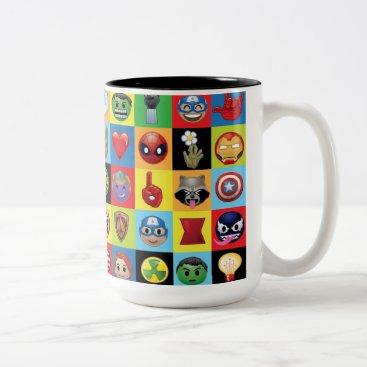 Marvel Emoji Characters Grid Pattern Two-Tone Coffee Mug