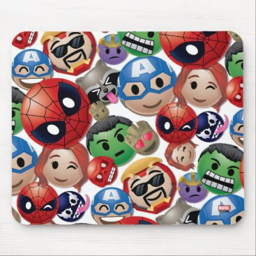 Marvel Emoji Characters Toss Pattern Mouse Pad