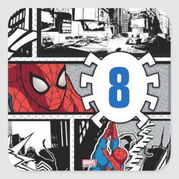 Marvel | Spiderman - Birthday Square Sticker