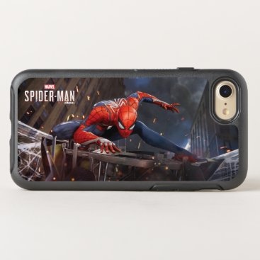 Marvel's Spider-Man | Landing on Webbed Helicopter OtterBox Symmetry iPhone 8/7 Case