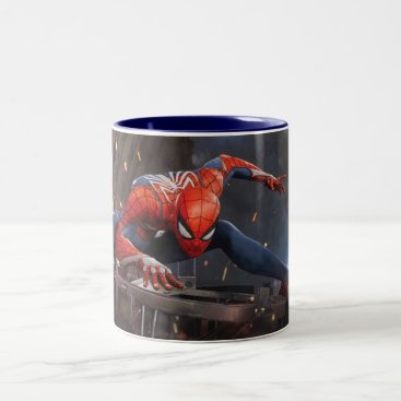 Marvel's Spider-Man | Landing on Webbed Helicopter Two-Tone Coffee Mug
