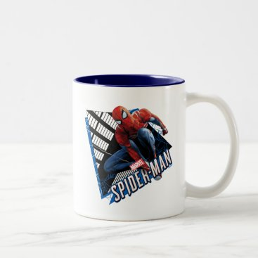 Marvel's Spider-Man | Web Swing Name Graphic Two-Tone Coffee Mug