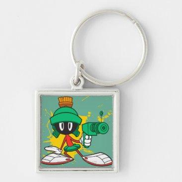 Marvin With Gun Keychain