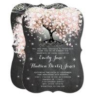 Mason Jar Pink Chalkboard Heart Leaf Tree Card