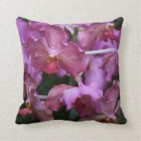 Mauve Singapore Orchid Pillow