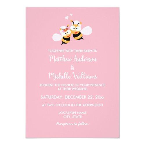 Meant To Bee Whimsical Elegant Wedding Invitation