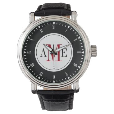 Men's Classy Red Monogram Watch