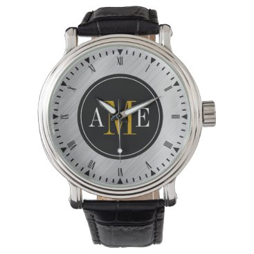 Men's Classy Yellow Monogram Watch