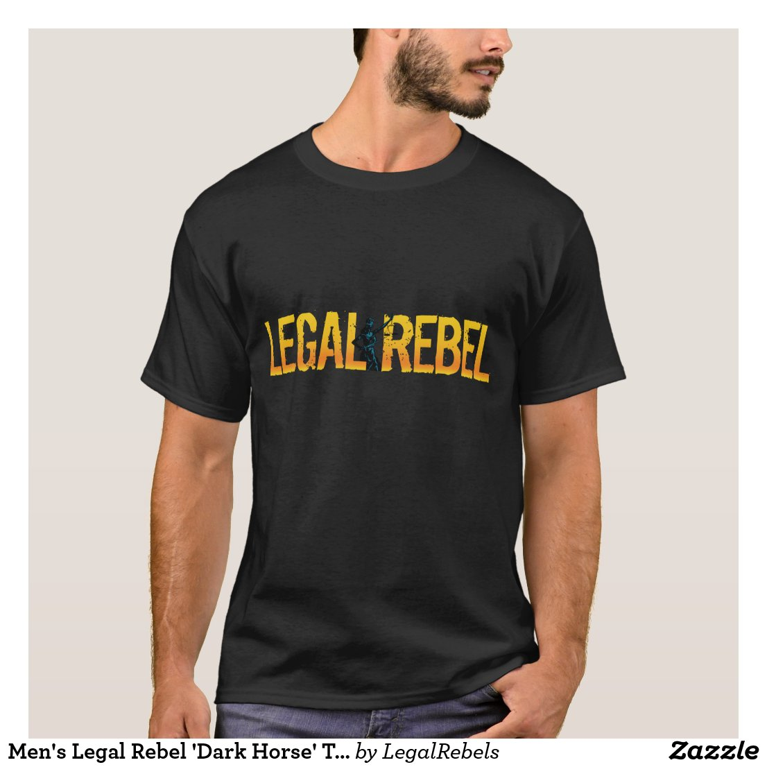 Men's Legal Rebel 'Dark Horse' T-Shirt