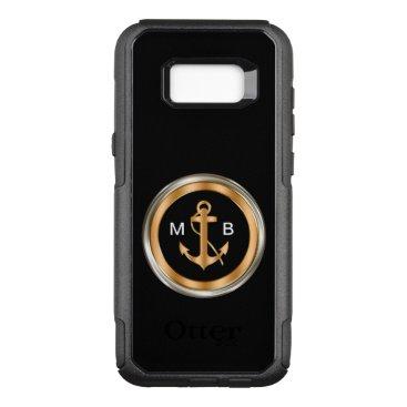 Mens Nautical Monogram OtterBox Commuter Samsung Galaxy S8  Case
