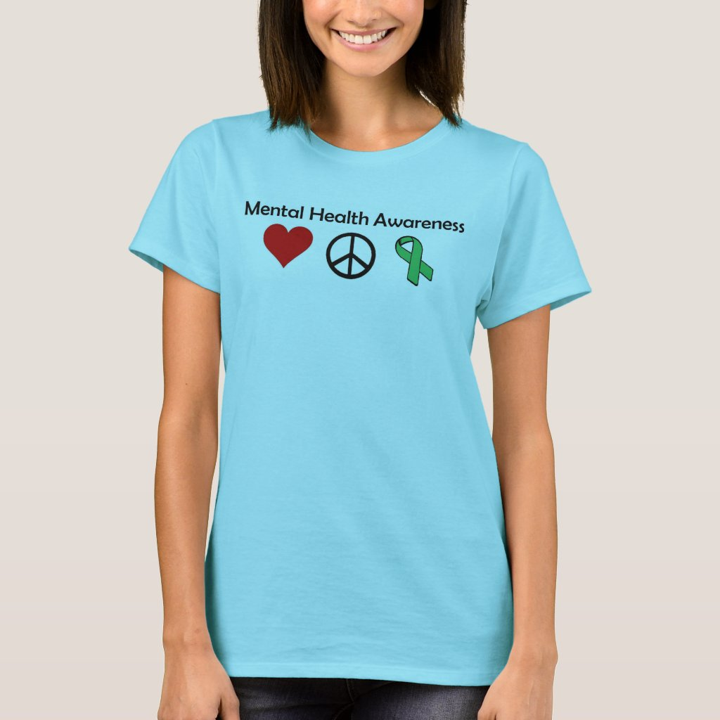 Mental Health Awareness - Love, Peace, Awareness T-Shirt