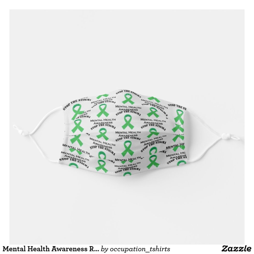 Mental Health Awareness Ribbon Cloth Face Mask