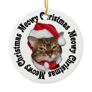 Meowy Christmas Christmas Tree Ornament