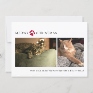 Meowy Christmas Photo Holiday Card