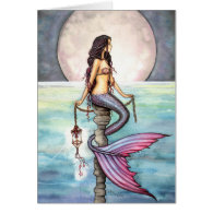 Mermaid Card Notecard by Molly Harrison