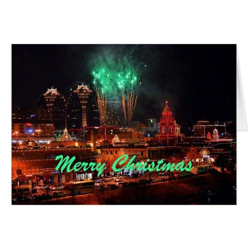 Merry Christmas Fireworks Kansas City Plaza Lights Cards
