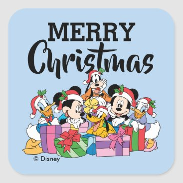 Merry Christmas | Holiday Cheer Group Square Sticker