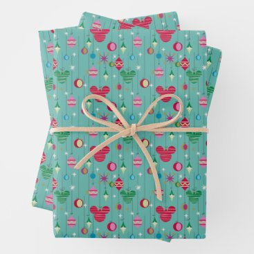 Merry Christmas | Mickey Retro Wrapping Paper Sheets
