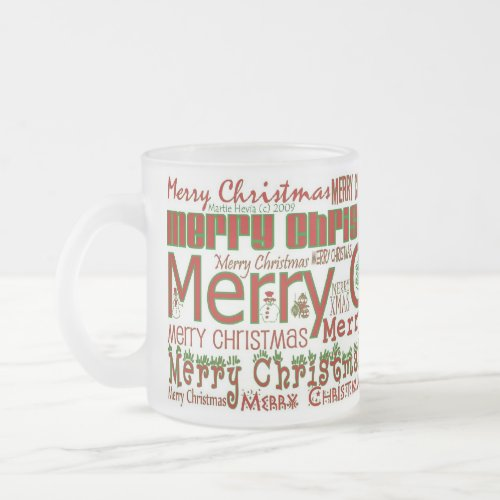 Merry Christmas Mug - Frosted Mug mug