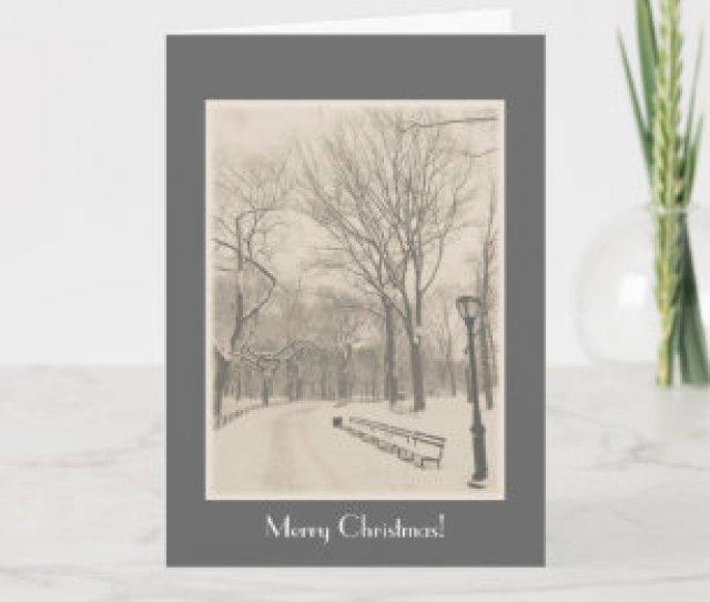 Merry Christmas New York Central Park Holiday Card