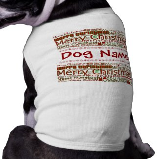 Merry Christmas Pet Shirt - Customize w/ Pet Name