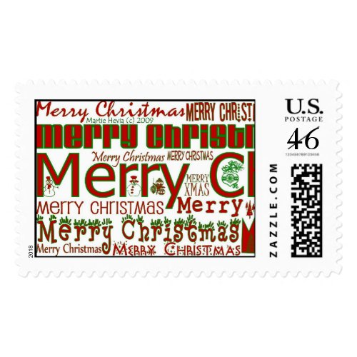 Merry Christmas Postage Stamp stamp