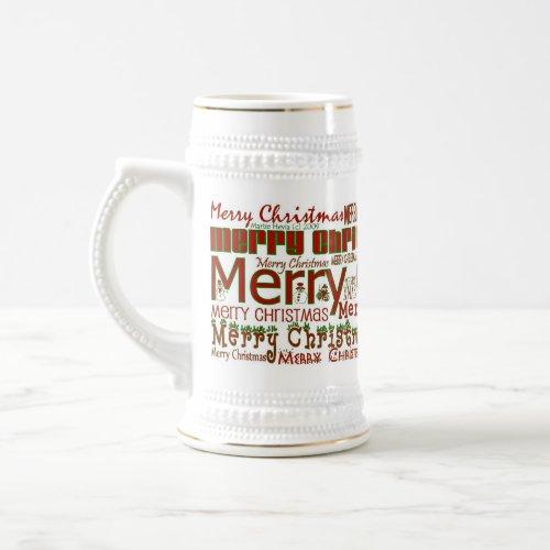 Merry Christmas Stein mug