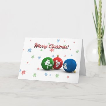 Merry Christmas! Xmas Ornaments Holiday Card