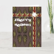 Merry Season Pine Cone Greetings cards