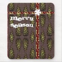 Merry Season Pine Cone Mousemat mousepads