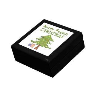 Merry Vegan Christmas trinket box