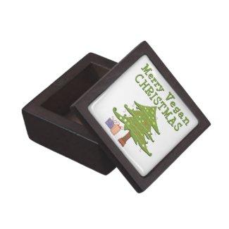 Merry Vegan Christmas keepsake box