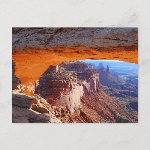 Mesa Arch Sunrise Postcard postcard