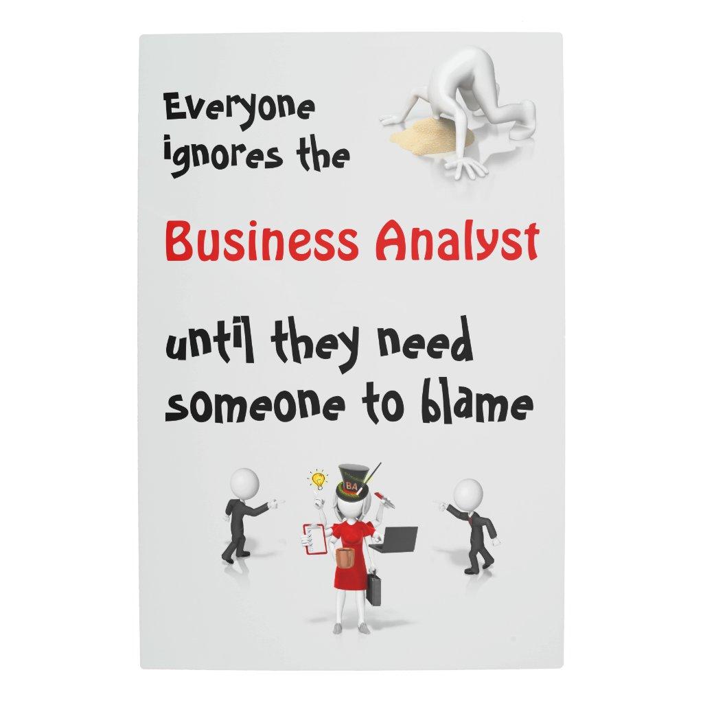 Metal Art Blame Business Analyst