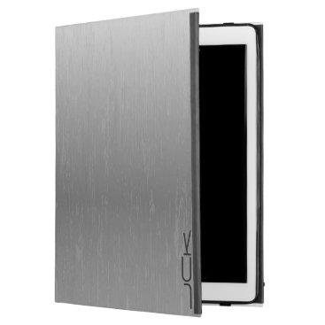 "Metallic Gray Brushed Aluminum Look iPad Pro 12.9"" Case"