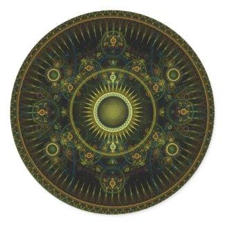 Metatron's Magick Wheel - Fractal Sticker sticker