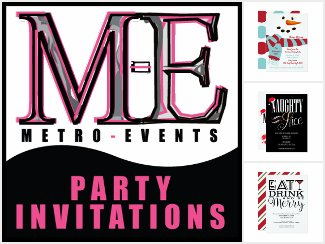 Metro-Events Party Invitations