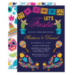 Mexican Fiesta Floral Couples Wedding Shower Invitation