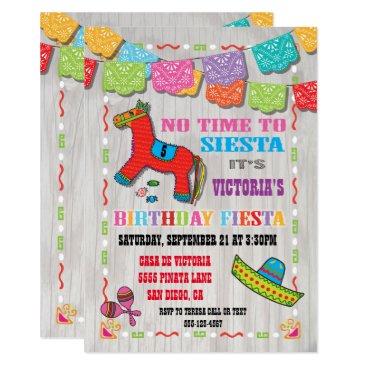 Mexican Fiesta Kids Birthday Party Invitation